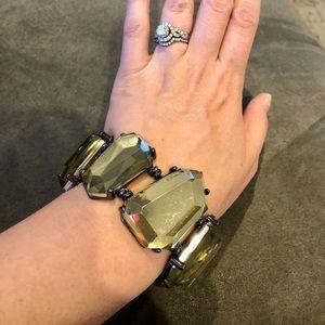 Chunky gemstone stretch bracelet